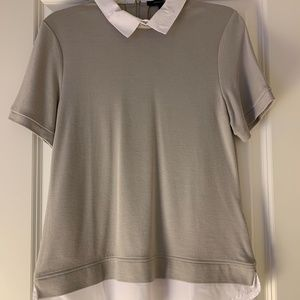 Womens Grey Collared Shirt French Connection